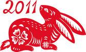 Chinese Zodiac of Rabbit Year. — Stock Vector