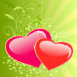 Wektor stockowy : Valentines day floral background with heart