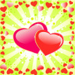Valentines day floral background with heart — 图库矢量图片