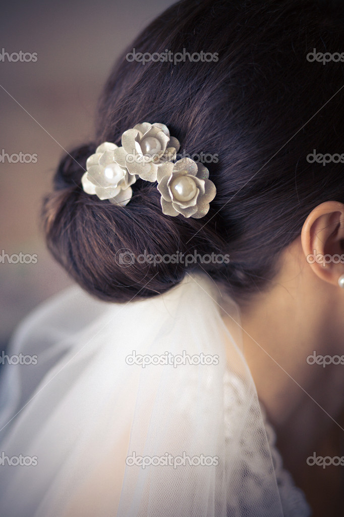 Bride hair style — Stock Photo #3948968