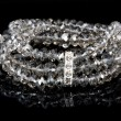 Bracelet with diamonds on black — Stock Photo