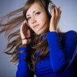 Stock Photo: Beautiful Headphones Girl