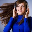 Beautiful Headphones Girl — Stock Photo #4645414
