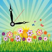 Tiempo para la primavera — Vector de stock