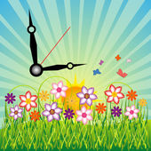 Time for spring — Stock Vector