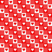 Corazones repetidos — Vector de stock