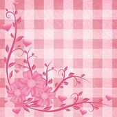 Floral pink background — Stock Vector