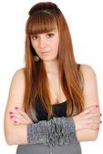 Long hair teenage girl portrait — Stock Photo