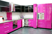 Pink kitchen — Stock Photo