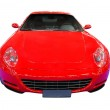 Fast red car front view isolated — Stock Photo