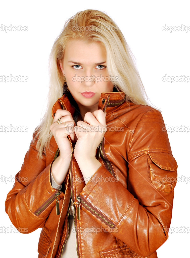Beauty blonde woman posing — Stock Photo #4856481