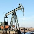 Oilfield with pump-jack — Stock Photo