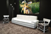 Modern white furniture — Stock Photo