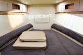 Luxury boat interior — Stock Photo