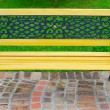 Stock Photo: Yellow bench