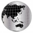 Globe in net - Stock Photo