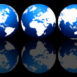 Set of globes - Stock Photo