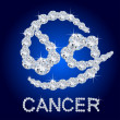 Diamond Zodiac Cancer - Stock Photo