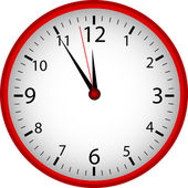 Red Clock — Foto Stock