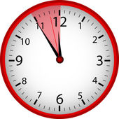 Red Clock — Stock Photo