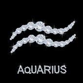 Diamond Zodiac Aquarius — Stock Photo
