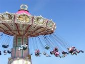 Chairoplane carousel — Stock Photo