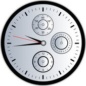 Chrono часы — Cтоковый вектор