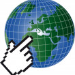 Globe mousefinger — Stock Photo