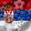Soccer Serbia — Stock Photo