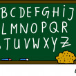 Blackboard alphabet — Stock Photo