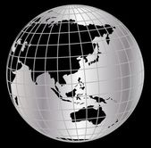 Globe in net — Stock Photo