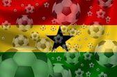 Piłki nożnej ghany — Zdjęcie stockowe