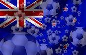Piłka nożna nowa zelandia — Zdjęcie stockowe
