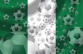 Piłka nożna nigerii — Zdjęcie stockowe