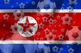 Korea północna piłka nożna — Zdjęcie stockowe