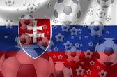 Piłka nożna słowacja — Zdjęcie stockowe