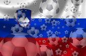 Piłki nożnej słowenia — Zdjęcie stockowe