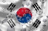 Korea południowa piłka nożna — Zdjęcie stockowe