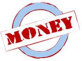 Rubber Stamp Money — Stock Photo