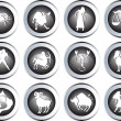 Stock Photo: Set of zodiac signs