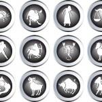 Set of zodiac signs — Stock Photo