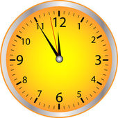 Yellow Clock — Stock Photo