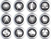 Zestaw znaków zodiaku — Zdjęcie stockowe