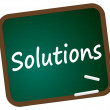 图库照片: Blackboard Solutions