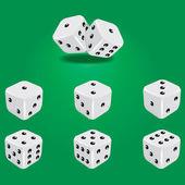White dice — Stock Vector
