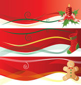 Christmass banners — Stock Vector