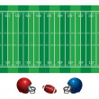 Stock Vector: Football field