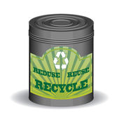 Recycle can — Stock Vector