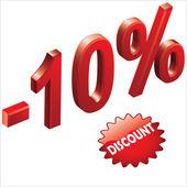 Discount 1 — Stock Vector