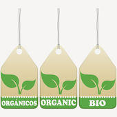 Organic tags — Stock Vector